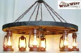 decoration wagon wheel chandelier old fashioned lanterns 1 tier free wild west living small
