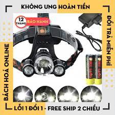 Hàng Loại 1] Đèn pin đội đầu 3 bóng siêu sáng kèm pin và sạc cao cấp tốt  giá rẻ