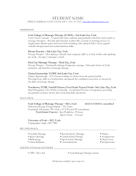 Massage Therapist Resume Objectives Resume And Cover Letter