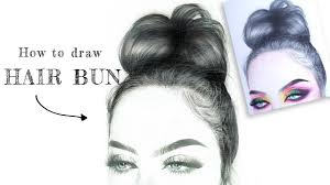 drawing with make up on paper part 1 how to draw hair