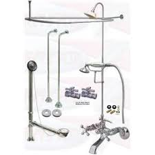 clawfoot tub shower fixtures. chrome clawfoot tub faucet package faucet, oval shower enclosure w/head, drain \u0026 fixtures