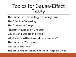 cause and effect essay about stress co cause