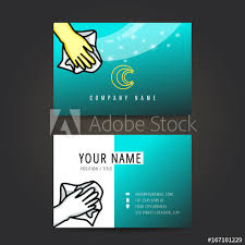 Cleaning Service Business Card Buy This Stock Vector And