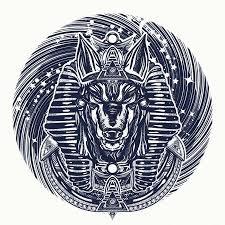Vektorová Grafika Anubis A Universe Tetování A Tričko Design
