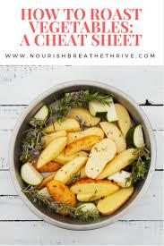 Nourish How To Roast Vegetables A Cheat Sheet Nourish