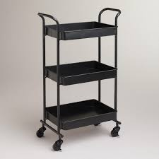 Espresso Austin Metal 3 Tier Cart