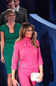 Social Media Spots Startling Message in Melania Trump s Hot Pink.