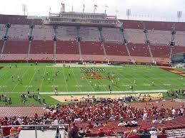 Los Angeles Coliseum Seating Chart Los Angeles Memorial Coliseum Section 122a Rateyourseats Com