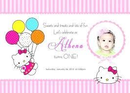 Kitty Party Invitation Templates Hello Kitty Birthday Party