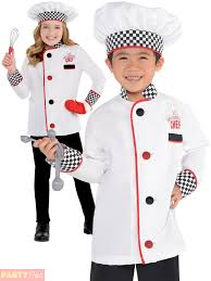 kids master chef costume fancy dress up boys