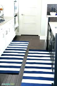black and white striped runner rug kitchen navy rugs life on street