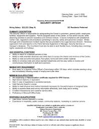 Download Security Officer Resume Sample Haadyaooverbayresort Com