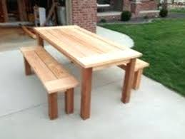 cedar patio table and chairs