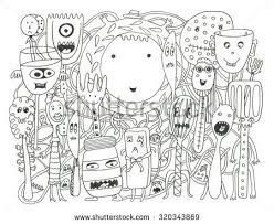 Small Picture Ocean Creatures Coloring Page Stock Illustration 322777241