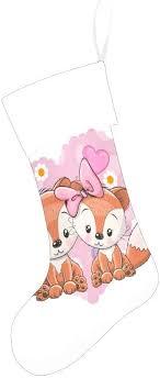 CUXWEOT Cartoon Cute Foxes Christmas Stocking ... - Amazon.com
