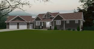 Decor Remarkable Ranch House Plans With Walkout Basement For Home - House with basement garage