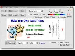 Event Ticket Printing Software Event Ticket Printing Software Zoroblaszczakco Free Ticket Maker