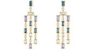david yurman novella earrings in 18 karat yellow gold with blue topaz tanzanite and diamonds 5 200