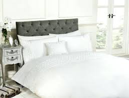 white luxury bedding set raised ruffle design single double super king cushion size duvet cover asda