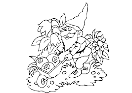 Small Picture Coloring Page Gnome coloring pages 20