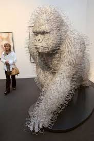 Gorilla made from hangers by David Mach