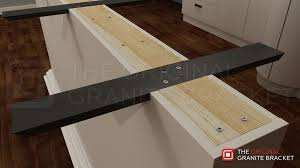 floating countertop brackets. Simple Floating Countertop Support Brace Flat Wall Bracket By The Original Granite  Install View Intended Floating Brackets N