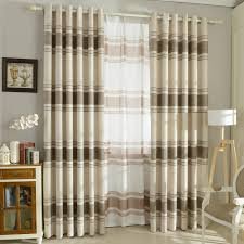 love the orange curtains--Orange and white horizontal striped curtains