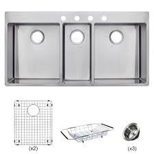 43 Inch Kitchen Sinks Kraus 33 Inch Dual Mount 50 50 Double Bowl 43 Kitchen Sink