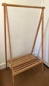 folding belvoir bamboo clothes rail wooden argos rack