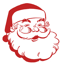 fancy merry christmas clip art words. Simple Merry Retro Christmas Clip Art U2013 Jolly Santa In Fancy Merry Words I