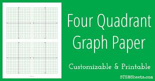 Four Quadrant Graph Paper Stem Sheets