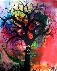 Easy Things To Paint Tree With Eyes By Biotwist On Deviantart