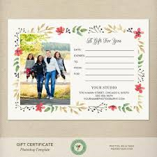 5x7 Christmas Gift Certificate Template Holiday Gift Certificate Template Photography Gift Certificate Photoshop Template Gc11