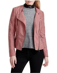 ava faux leather biker jacket image 1