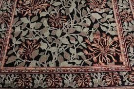william morris flora black green area rug 4 1 x6 2 craftsman area rugs by bareens designer rugs