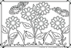 Printable Spring Flowers Free Spring Flower Coloring Sheets Cute