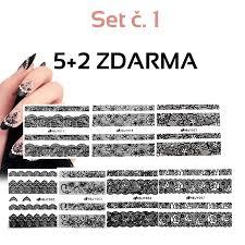 Nálepky Na Nehty Krajka Set č1 52 Zdarma