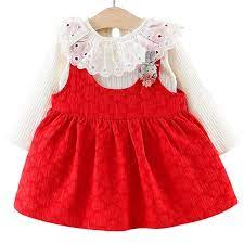 Baby Girl Dress Set Clothing For Infant Toddler Kids Girls Princess Clothes Long Sleeve 6 Months To 3 5 Years