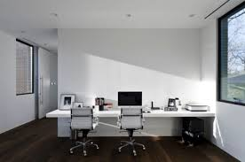 white office decors. Alabaster Offices. White Office Decors
