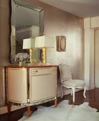 metallic interior paintDining Room With Curio Cabinet And Metallic Interior Paint Color