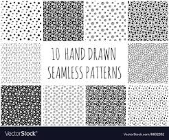 Dot Patterns Delectable Hand Drawn Polka Dot Patterns Collection Vector Image