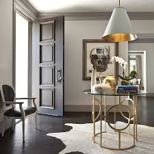 Round Glass Top Foyer Table