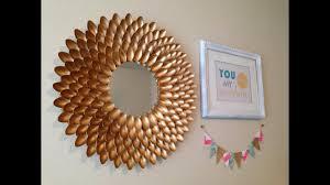 diy room decor easy crafts ideas at home 2017 diy spoons mirror 23 5 minutescrafts net