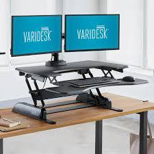 adjustable standing desk attachment. Fine Adjustable Varidesk Pro Plus 36 Height Adjustable Standing Desk In Attachment U