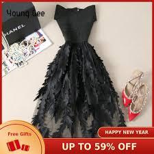 Young Gee <b>Women Lace</b> Bandage Patchwork Stretch Elegant Dress ...