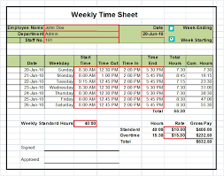 Time Sheets Excel Excel Template Weekly Timesheet Weekly Timesheet Template For