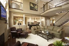 Two Story Living Room Curtains Creating Warmth Sense With Brown Wall Shade Featwonderful Window