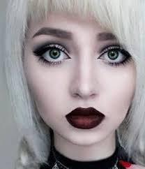 gothic makeup dark red lips eye makeup