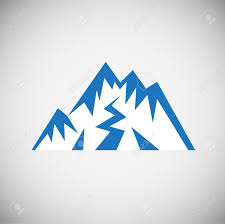 Blue Mountains Web Design Mountain Icon Blue On White Background For Graphic And Web Design