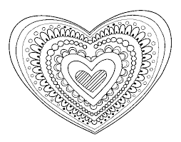 Small Picture Heart mandala coloring page Coloringcrewcom